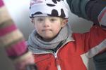 Boy in winter hat